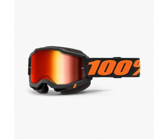 100%, ACCURI 2 Snowmobile Glasögon Chicago - Mirror Red Lens, VUXEN