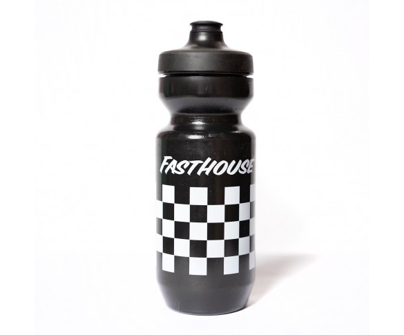 Fasthouse, Checkers Water Bottle, Black