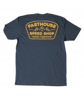 Fasthouse, T-Shirt GREASE MONKEY, VUXEN, M, BLÅ