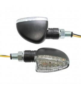 Holeshot, Universal LED blinkers, klar lins. E-märkt.