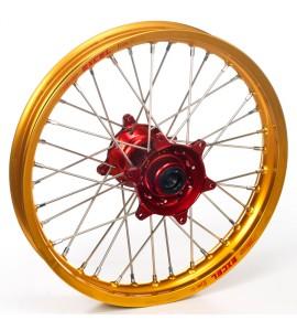 """Haan Wheels, Komplett Hjul, 1,40, 19"""", FRAM, GULD RÖD, Honda 03-07 CR85R, 96-02 CR80R"""