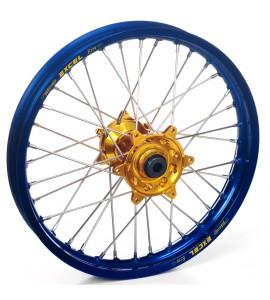 "Haan Wheels, Komplett Hjul, 2,15, 18"", BAK, BLÅ GULD, SHERCO 12-13 450 Enduro Racing/510 SE Racing, 13 450 SE, 14-19 450 SEF, 20-21 450 SEF-R, 05-11 Enduro 4.5i, 12-19 250 SE/300 SE, 14-19 250 SEF/300 SEF, 20-21 250 SEF-R/250 SE-R/300 SEF-R/300 SE-R, 07-1"