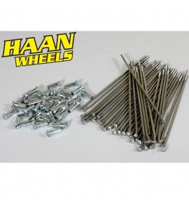 "Haan Wheels, Ekersats (OEM), 18"", BAK, Honda 02-20 CRF450R, 95-07 CR250R, 04-20 CRF250R, 19 CRF250X, 95-07 CR125R"