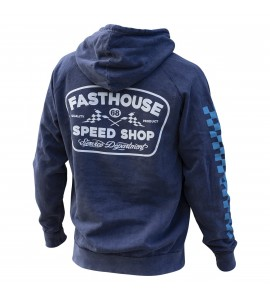Fasthouse, Wedged pover Hoodie, VUXEN, M, BLÅ