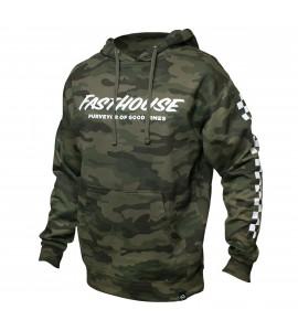 Fasthouse, Logo Hooded Pullover, VUXEN, L, CAMO