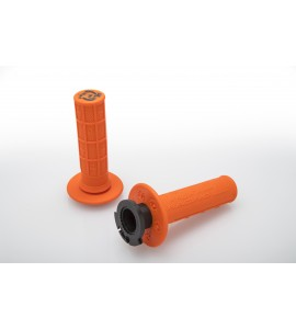 Torc1, Defy Lock-On Grip, Soft Diamond/Waffle, 4-takt, ORANGE