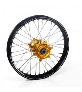 "Haan Wheels, Komplett Hjul A60, 2,15, 19"", BAK, SVART GULD, Yamaha 21 WR450F, 09-21 YZ450F, 09-21 YZ250F"