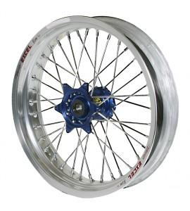 """Haan Wheels, Komplett Hjul, 1,60, 21"""", FRAM, SILVER BLÅ, Husqvarna 04-10 TC 450/TE 450/TE 510, 04-13 TC 250/TE 250, 11-12 TE 125, 11-13 TC 449/TE 449, 06-10 TC 510, 09-13 TE 310"""