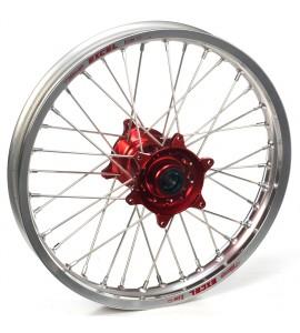 """Haan Wheels, Komplett Hjul, 1,60, 21"""", FRAM, SILVER RÖD, Husqvarna 04-10 TC 450/TE 450/TE 510, 04-13 TC 250/TE 250, 11-12 TE 125, 11-13 TC 449/TE 449, 06-10 TC 510, 09-13 TE 310"""