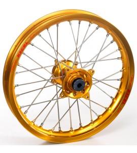 """Haan Wheels, Komplett Hjul, 1,60, 21"""", FRAM, GULD, Husqvarna 04-10 TC 450/TE 450/TE 510, 04-13 TC 250/TE 250, 11-12 TE 125, 11-13 TC 449/TE 449, 06-10 TC 510, 09-13 TE 310"""