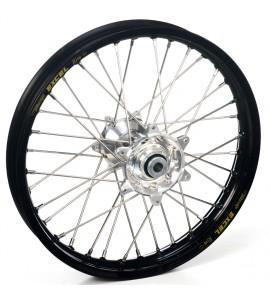 """Haan Wheels, Komplett Hjul, 1,60, 21"""", FRAM, SVART SILVER, Husqvarna 04-10 TC 450/TE 450/TE 510, 04-13 TC 250/TE 250, 11-12 TE 125, 11-13 TC 449/TE 449, 06-10 TC 510, 09-13 TE 310"""