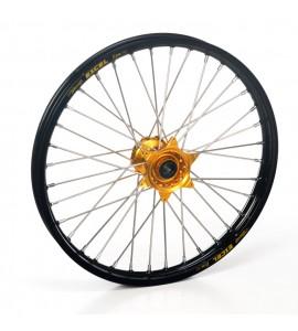 """Haan Wheels, Komplett Hjul, 1,60, 21"""", FRAM, SVART GULD, Husqvarna 04-10 TC 450/TE 450/TE 510, 04-13 TC 250/TE 250, 11-12 TE 125, 11-13 TC 449/TE 449, 06-10 TC 510, 09-13 TE 310"""