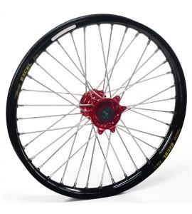 """Haan Wheels, Komplett Hjul, 1,60, 21"""", FRAM, SVART RÖD, Husqvarna 04-10 TC 450/TE 450/TE 510, 04-13 TC 250/TE 250, 11-12 TE 125, 11-13 TC 449/TE 449, 06-10 TC 510, 09-13 TE 310"""