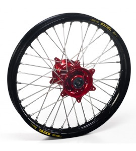"Haan Wheels, Komplett Hjul SM, 4,50, 17"", BAK, SVART RÖD, Husqvarna 05-10 SM-R 450/SM-R 510, 04-10 TC 450/TE 450/TE 510, 04-13 TC 250/TE 250, 11-12 TE 125, 05-09 SM-R 610/SMR 630, 11-13 TC 449/TE 449/TE 511, 06-10 TC 510, 09-13 TE 310"