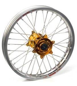 "Haan Wheels, Komplett Hjul, 2,15, 18"", BAK, SILVER GULD, Husqvarna 04-10 TC 450/TE 450/TE 510, 04-13 TC 250/TE 250, 11-12 TE 125, 11-13 TC 449/TE 449, 06-10 TC 510, 09-13 TE 310"