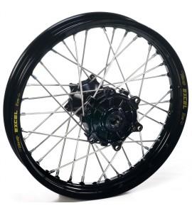 """Haan Wheels, Komplett Hjul, 2,15, 18"""", BAK, SVART, Husqvarna 04-10 TC 450/TE 450/TE 510, 04-13 TC 250/TE 250, 11-12 TE 125, 11-13 TC 449/TE 449, 06-10 TC 510, 09-13 TE 310"""