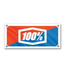 100%, 27.5x18.3 TYVEK BANNER WHITE - NEW LOGO