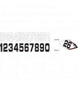 Why Stickers, Siffror Stora 10st, 20*11cm Svart 0