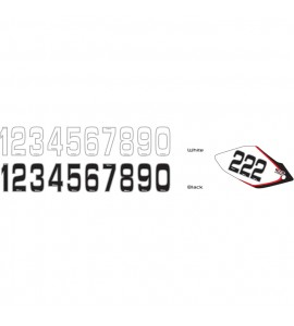 Why Stickers, Siffror Små 10st, 14,5 * 7 cm Vit 8