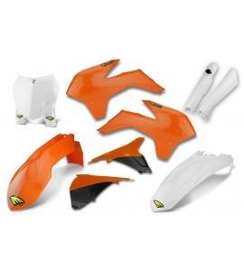 Cycra, Body Kit Komplett, ORANGE VIT, KTM 13-15 450 SX-F, 13-16 250 SX, 13-15 250 SX-F, 13-15 350 SX-F, 13-15 125 SX/150 SX