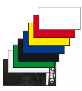 Tecno-X, Nummerplåtsplast Tjock 35*80 cm, RÖD