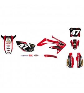Why Stickers, Replica Kit JK MX Team CRF 250, 04-09, Honda 04-09 CRF250R