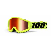 100%, ACCURI Fluo Yellow - Mirror Red Lens, VUXEN