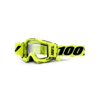 100%, ACCURI FORECAST Goggle Fluo Yellow  - Clear Lens, VUXEN