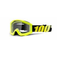 100%, STRATA YOUTH Neon Yellow - Clear Lens, BARN